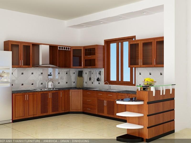 Thiết kế bố trí phong thủy nhà bếp